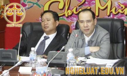 Ông Trịnh Xuân Thanh và ông Vũ Đức Thuận, nguyên Tổng giám đốc PVC
