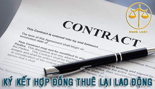 Ký kết hợp đồng thuê lại lao động