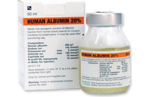 Cục quản lí Dược yêu cầu các công ty Dược dừng nhập khẩu và phân phối thuốc Human Albumin 20%