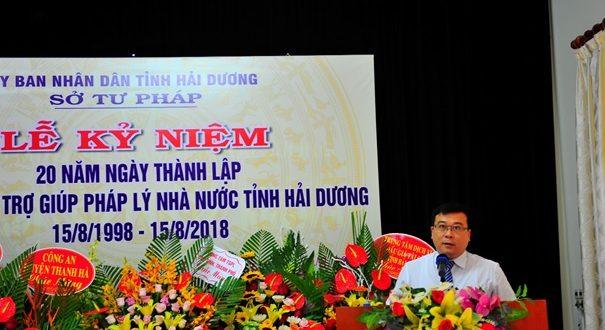 Trung tâm Trợ giúp pháp lý nhà nước tỉnh Hải Dương tổ chức Lễ Kỷ niệm 20 năm thành lập