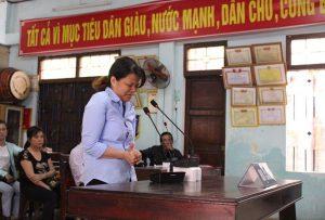 Bị cáo Đinh Thị Hồng khai nhận toàn bộ hành vi tại tại phiên tòa