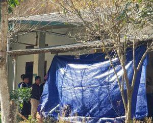 Căn nhà hoang nơi tìm thấy thi thể nạn nhân