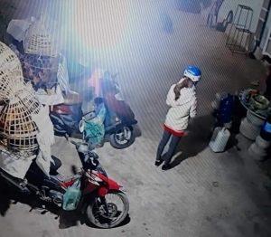 Camera an ninh ghi lại cảnh Duyên trước chuyến giao gà cuối cùng