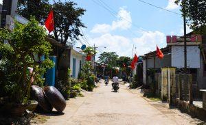 Làng quê xã Bình Đông (huyện Bình Sơn), nơi gia đình nạn nhân từ Canada ăn Tết.